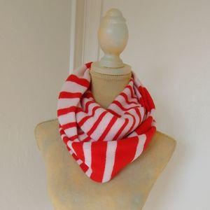 NWOT Kate Spade striped 100% wool infinity scarf